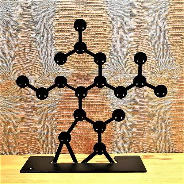 porte bijoux métal atomic noir pm