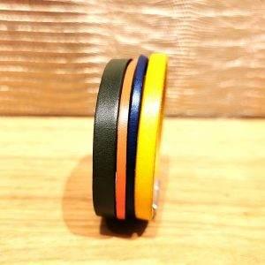 bracelet manchette cuir 2cm c