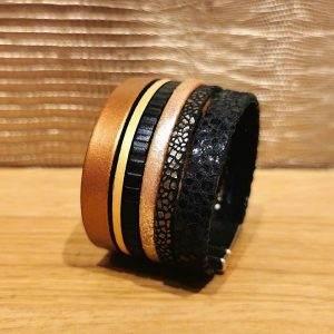 bracelet manchette cuir 4cm a
