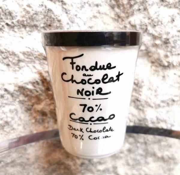 fondue chocolat noir 70%.