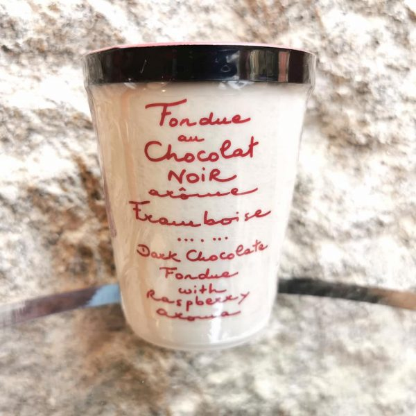 fondue chocolat noir framboise