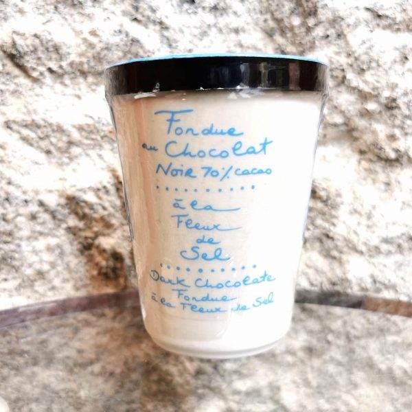 fondue chocolat noir sel de guérande