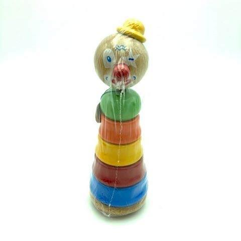 Empilable Clown Chapeau Jaune