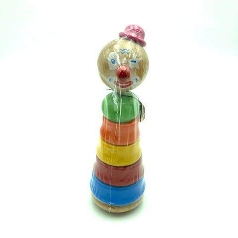 Empilable Clown Chapeau Rose