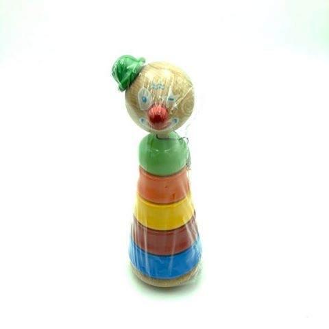 Empilable Clown Chapeau Vert