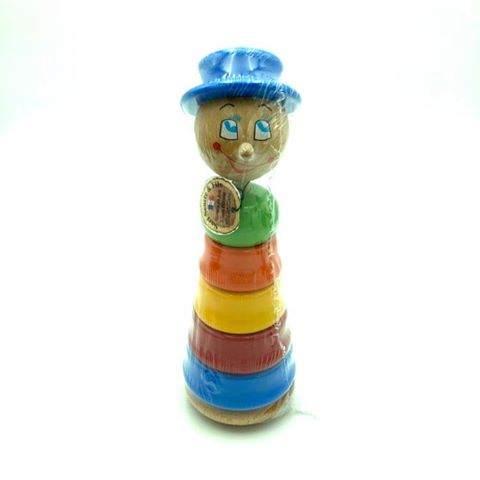 Empilable Fille Chapeau Bleu