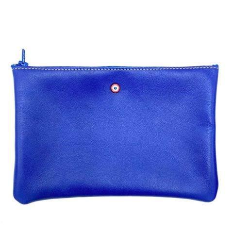 Larmorie Pochette Cuir Bleu Roi