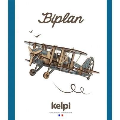 Biplan Bleu