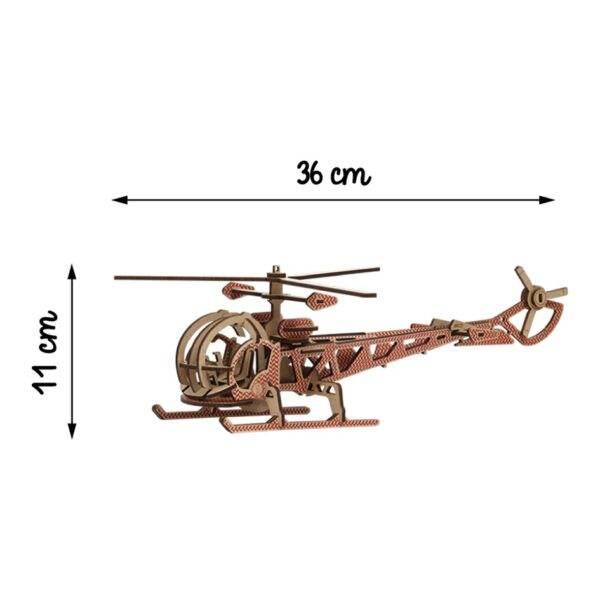 Hélicoptère Kelpi Rouge Monté