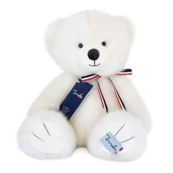 mailou l'ours français blanc poudré 1