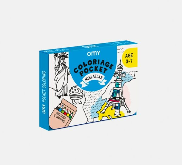 Omy Coloriage Pocket Atlas
