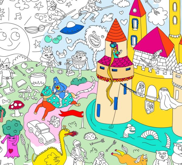 Omy Poster à Colorier Magic 2