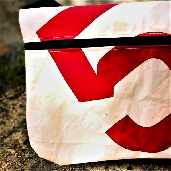 besace voile recyclée n°5 rouge zoom marques