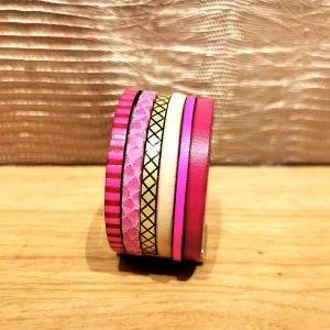 bracelet manchette cuir 3cm b