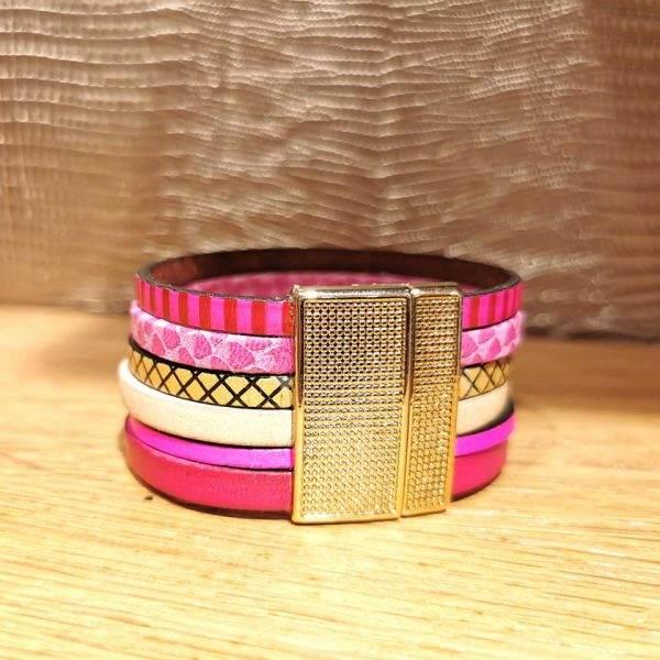 bracelet manchette cuir 3cm b2