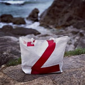 cabas voile recyclée pm n°2 rouge avant