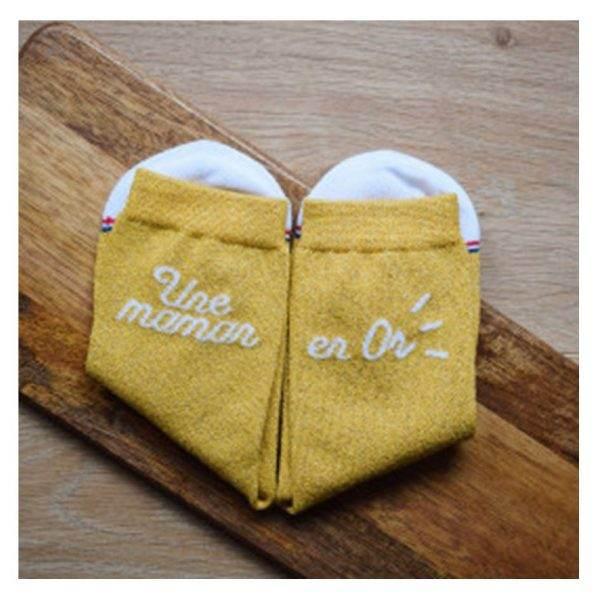 chaussettes maman en or 2
